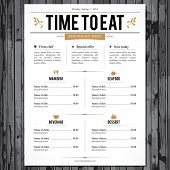 picture of diners  - Restaurant menu design - JPG