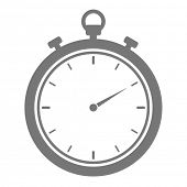 stock photo of stopwatch  - minimalistic illustration of a stopwatch - JPG