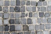 picture of cobblestone  - Digital photo of a background of a cobblestone floor - JPG