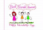 picture of  friends forever  - Happy Friendship Day and Best Friends Forever idea design - JPG