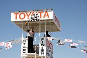 LOS ANGELES - MAR 15:  Adrien Brody at the Toyota Grand Prix of Long Beach Pro-Celebrity Race Traini