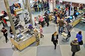 SAMARA, RUSSIA - JAN 05, 2014 : People in cafeteria at store IKEA in Samara. IKEA Founded in Sweden