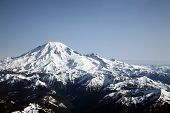 Aerial of Mt Rainier