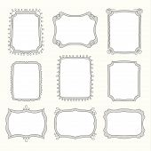 foto of girly  - vector Set of doodle frames and different elements - JPG