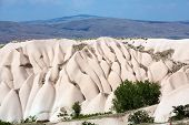 stock photo of goreme  - Volcanic rock landscape Goreme Cappadocia Uchisar Turkey - JPG