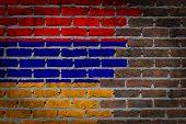 picture of armenia  - Dark brick wall texture  - JPG
