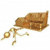 picture of slave-house  - House Chained - JPG