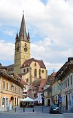 picture of sibiu  - sibiu city romania Parochial Evangelical Church landmark architecture - JPG