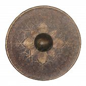 picture of vibration plate  - Isolated Thai native gong on a white background