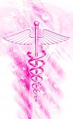 stock photo of sceptre  - digital illustration of 3d medical icon on a colour background - JPG