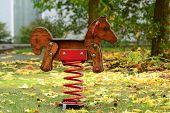 pic of wooden horse  - children - JPG
