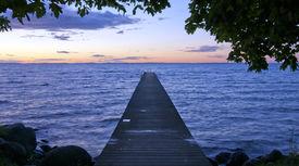 stock photo of nightfall  - Sunset - JPG