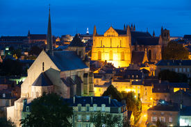 pic of poitiers  - View of Poitiers at a summer night - JPG