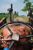 foto of tractor  - a farmer