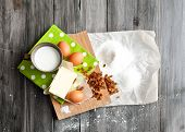 stock photo of baked raisin cookies  - Ingredients for baking Easter cake - JPG