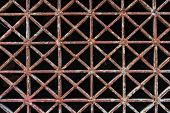 pic of iron star  - The old rust star iron floor pattern background - JPG