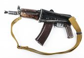 pic of kalashnikov  - Kalashnikov rifle on bright background - JPG
