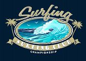foto of clubbing  - Surfing Club Championship with surfing wave  - JPG