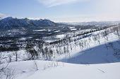 foto of blue ridge mountains  - View of a snowy - JPG