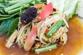 foto of green papaya salad  - green papaya salad  - JPG
