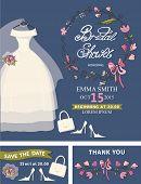 image of bridal shower  - Bridal shower invitation set - JPG