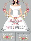 picture of bridal shower  - Bridal shower invitation set - JPG