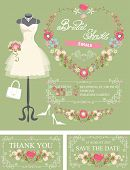 foto of bridal shower  - Bridal shower invitation set - JPG