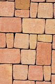 stock photo of paving  - close up of flagstone for paving in a garden - JPG
