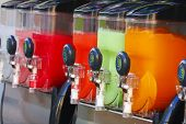 image of dispenser  - Crushed Fruit Ice Drink Dispensers with Color Refreshments - JPG