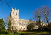 stock photo of church-of-england  - Christchurch Priory Dorset England UK 11th century Grade I listed church in town centre - JPG