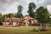 picture of versaille  - Farm Marie Antoinette in the park of Versailles France - JPG