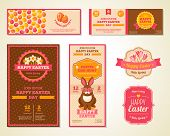 picture of greeting card design  - Vintage Happy Easter Greeting Cards Design - JPG