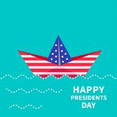 pic of dash  - Presidents Day background Paper boat - JPG