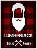 image of long beard  - Lumberjack poster with long beard and text - JPG
