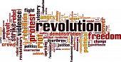 picture of revolt  - Revolution Word Cloud Concept - JPG