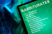 picture of meth  - Tablet with the chemical formula of Barbiturates - JPG