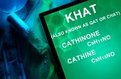 picture of meth  - Tablet with the chemical formula of Khat  - JPG