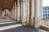 stock photo of vicenza  - Perspective of the columns of the Basilica palladiana in Vicenza - JPG