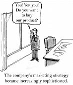 picture of shout  - Cartoon of marketing director shouting out the window - JPG