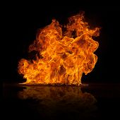 image of infernos  - Beautiful stylish fire flames - JPG