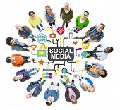 picture of social system  - Social Media Social Networking Connection Global Concept - JPG