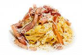 picture of carbonara  - Pasta Carbonara with bacon and cheese - JPG