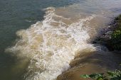 picture of pollution  - Eco disaster polluting the river - JPG