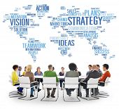 stock photo of analysis  - Strategy Analysis World Vision Mission Planning Concept - JPG