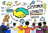 stock photo of loyalty  - Customer Loyalty Service Support Care Trust Casual Concept - JPG