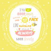 foto of motivational  - Greeting card with cute and character vector illustration and typographic - JPG