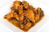 stock photo of thai cuisine  - fried fish with sweet sauce thai cuisine - JPG