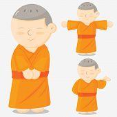 foto of buddhist  - monk cartoon  - JPG
