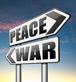 foto of terrorism  - war peace love no conflict or terrorism   - JPG