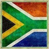 stock photo of nelson mandela  - South African national flag - JPG